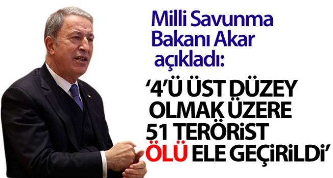 Milli Savunma Bakanı Akar açıkladı...Gara'da 48 hedef vuruldu!