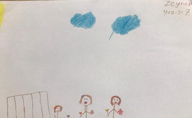 Çocuklar pandemi sonrası hayâllerini çizgilerle anlattı