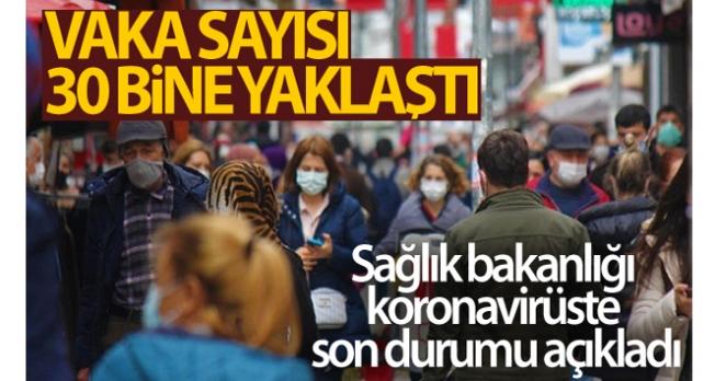 Türkiye'de son 24 saatte 29.762 koronavirüs vakası tespit edildi, 146 kişi hayatını kaybetti