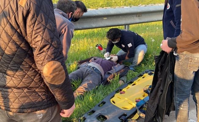 Baba ve oğlu kazada ölümden döndü