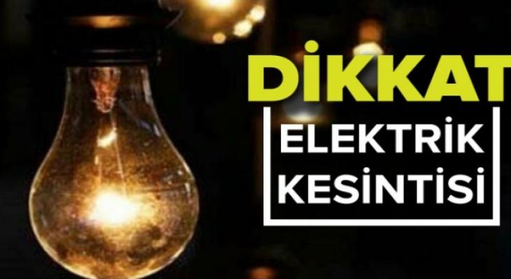 İnegöl'de hafta sonu elektrik kesintisi!