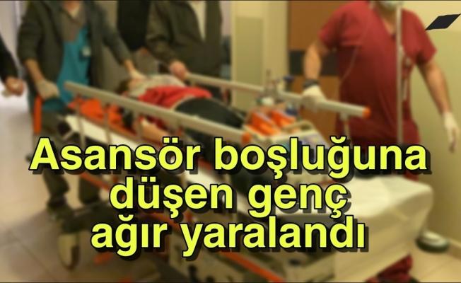 İnşaatın asansör boşluğuna düşen genç ağır yaralandı