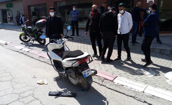 Motosiklet sürücüsünün hayatını kaybettiği anlar güvenlik kamerasında