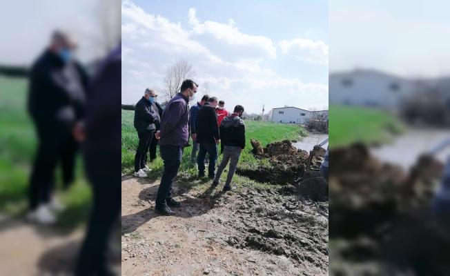 Mudanya'da tarım arazileri sular altında kaldı