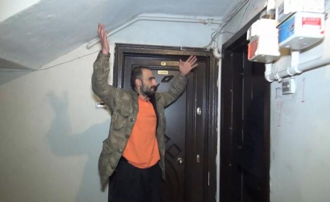 (ÖZEL) Hırsız bodrum kattaki evde mahsur kaldı