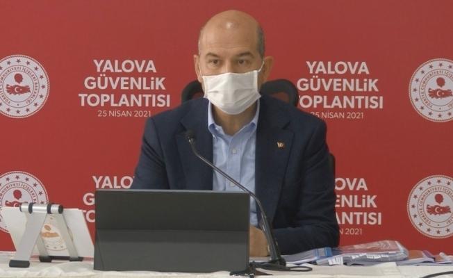 Yalova'da İçişleri Bakanı Soylu başkanlığında 'Güvenlik Toplantısı' yapıldı