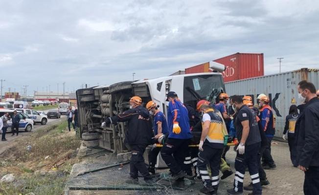 20 işçinin yaralandığı kazada, ölen kadının kimliği belli oldu