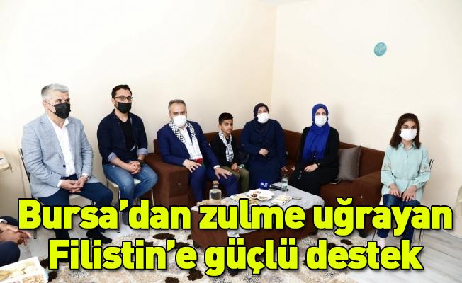 Bursa'dan zulme uğrayan Filistin'e güçlü destek