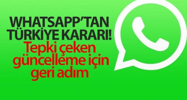 WhatsApp'tan Türkiye kararı! Tepki çeken güncelleme için geri adım