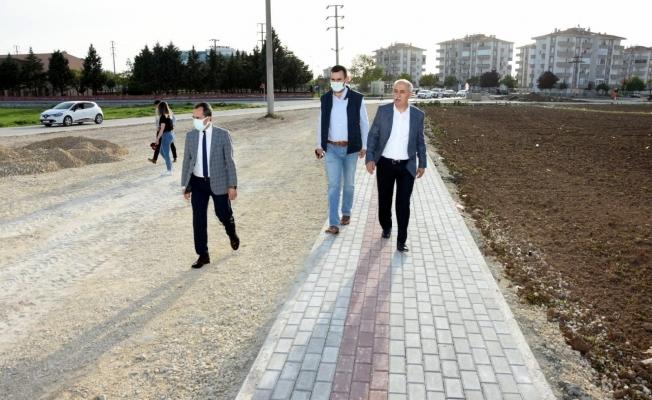 Yenişehir'de kapanma döneminde yol çalışmaları hızlandı