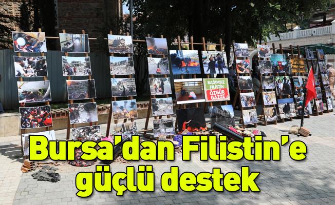 Bursa'dan Filistin'e güçlü destek