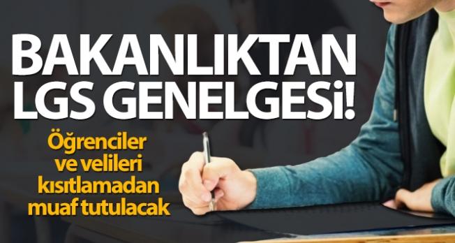 İçişleri Bakanlığı'ndan 'Liselere Giriş Sınavı Tedbirleri' genelgesi