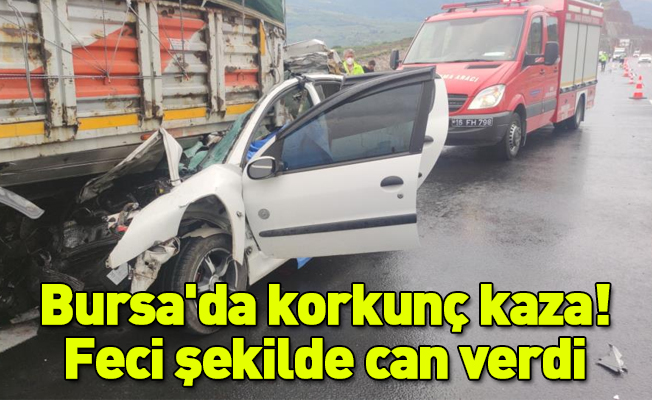 Otoyolda tıra çarpan otomobilin sürücüsü feci şekilde can verdi