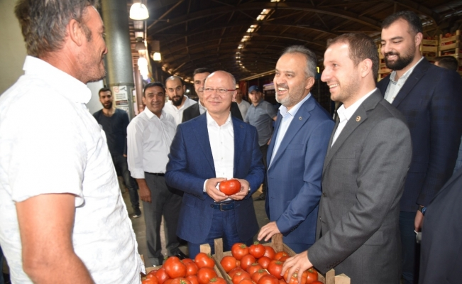 Gürkan'dan hal esnafına ziyaret