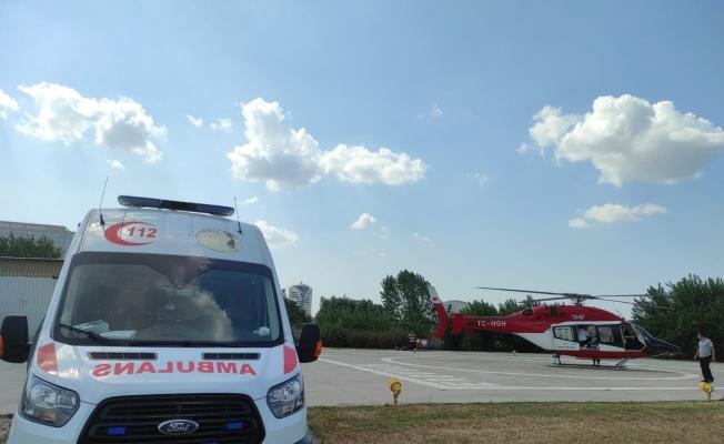 Helikopter ambulans 46 yaşındaki hasta için havalandı