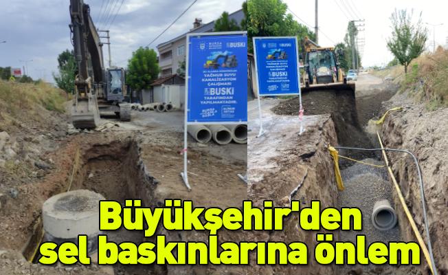 Büyükşehir'den sel baskınlarına önlem