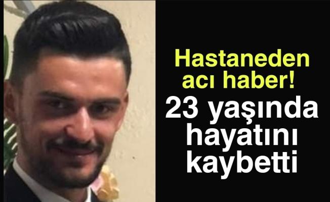 İnegöl'de hastaneden acı haber! 23 yaşında hayatını kaybetti
