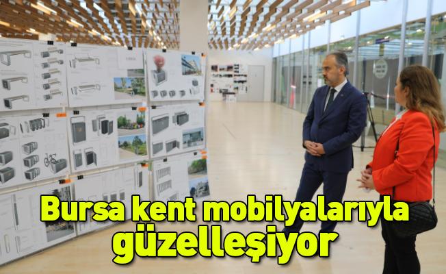 Bursa kent mobilyalarıyla güzelleşiyor