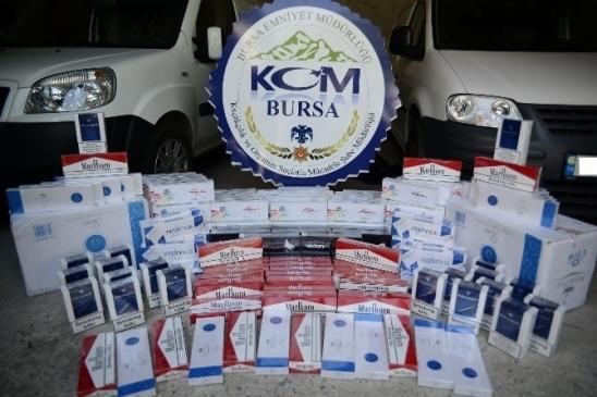 Bursa'da 6 Bin Paket Kaçak Sigara Ele…