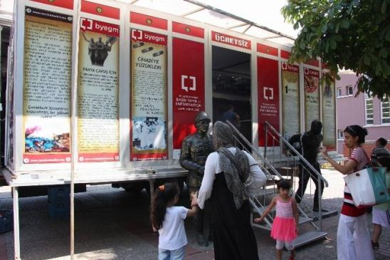 Çanakkale Gezici Müzesi Bursa'da
