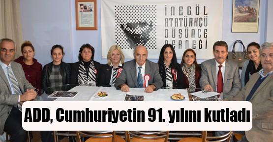 ADD İnegöl Şubesi Cumhuriyet'in 91. yılını kutladı