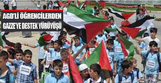 Agd'li Öğrencilerden Gazze'ye Destek Yürüyüşü