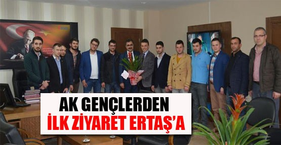 AK Gençlerden İlk Ziyaret Ertaş'a
