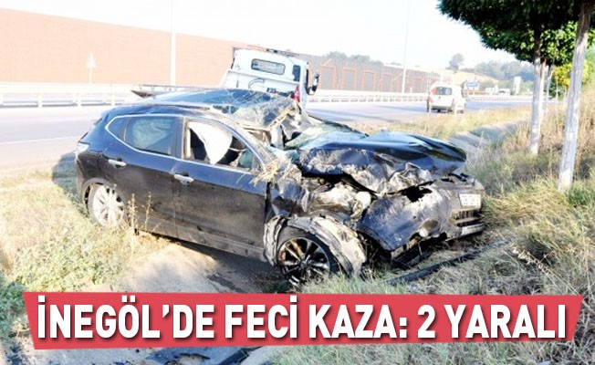 İnegöl'de feci kaza:2 yaralı