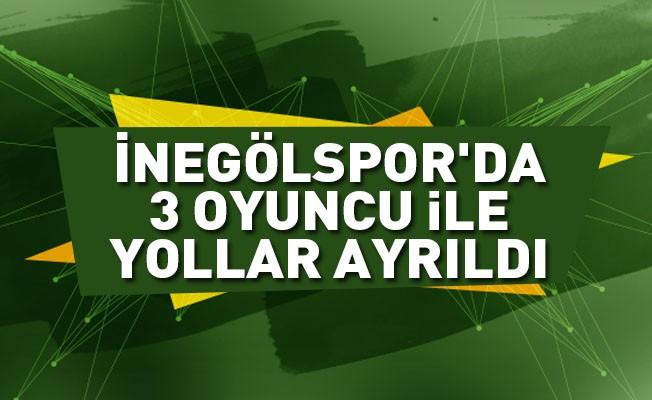 İnegölspor'da 3 oyuncu ile yollar ayrıldı