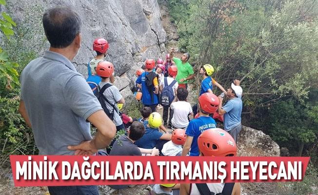 Minik Dağcılarda Tırmanış Heyecanı