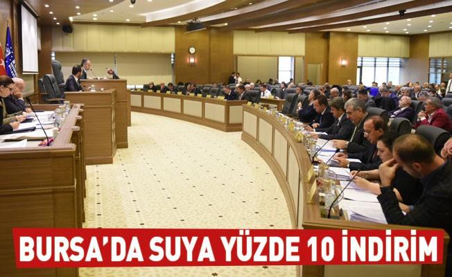 Bursa'da su ücretlerine yüzde 10 indirim yapıldı!