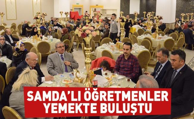 Samda'lı Öğretmenler Yemekte Buluştu