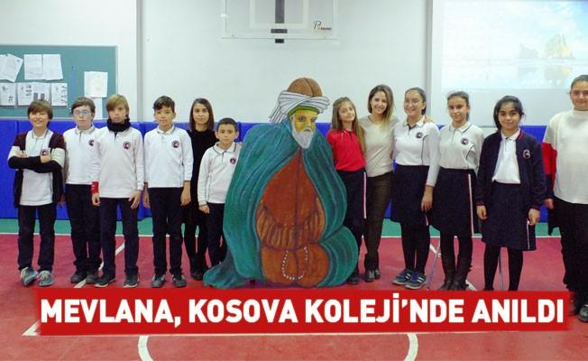 Mevlana, Kosova Koleji'nde Anıldı