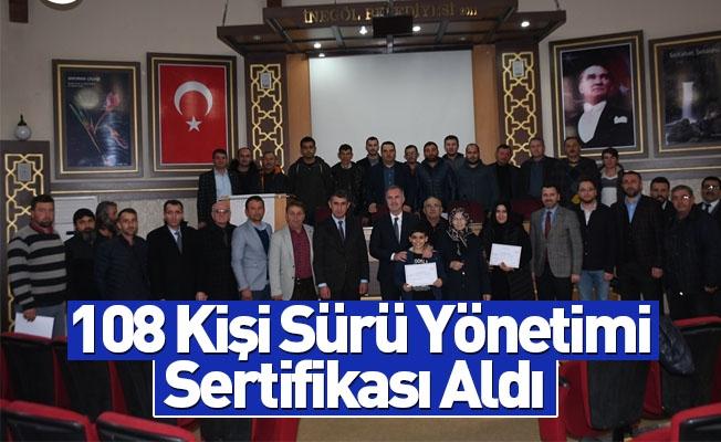 108 Kişi Sürü Yönetimi Sertifikası Aldı