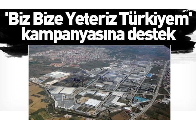 """İnegöl OSB """"Biz bize yeteriz Türkiye'm"""" kampanyasına 150 bin lira destek verdi"""