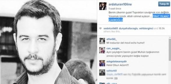 Arda Turan'dan Fırat Çakıroğlu mesajı
