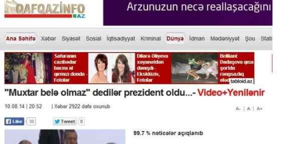 Azerbaycan Basını Böyle Gördü