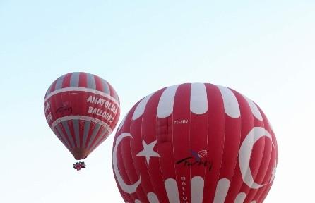 Balonlar 29 Ekim Için Havalandı