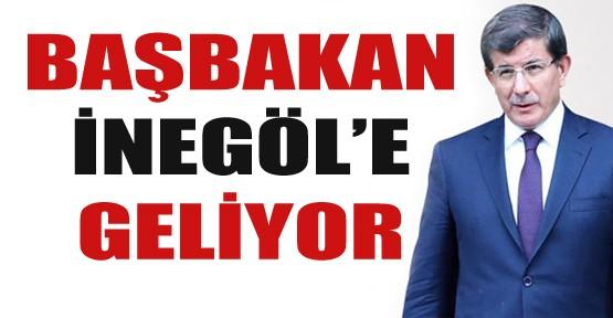 Başbakan Davutoğlu İnegöl'e geliyor!