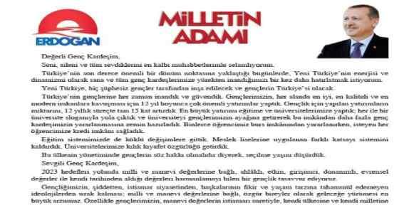 Başbakan Erdoğan'dan Gençlere Mektup