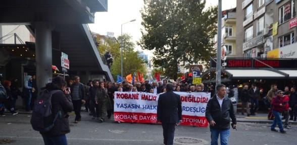Başkent'te Kobani Eylemi