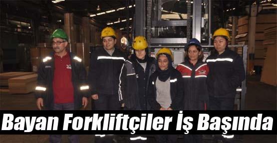 Bayan Forkliftçiler İş Başında