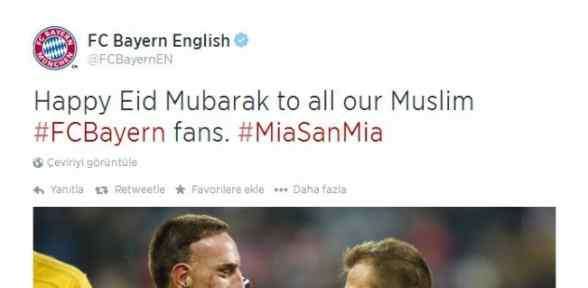 Bayern Münih'ten Ramazan Bayramı Mesajı