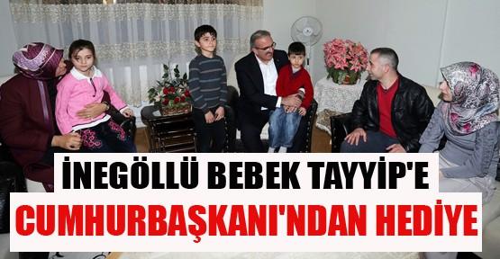 Bebek Tayyip'e Cumhurbaşkanı Erdoğan'dan Hediye