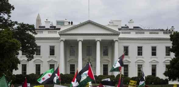 Beyaz Saray önünde 20 Bin Kişilik Filistin Protestosu