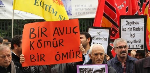 Beyoğlu'nda Baretli Kömürlü Eylem