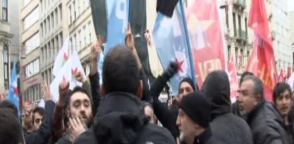 Beyoğlu'nda eylem gerginliği