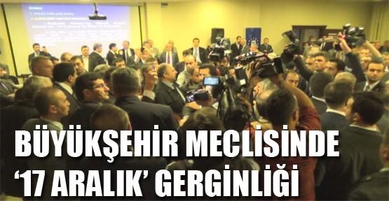 Büyükşehir Meclis Toplantısında Gerginlik