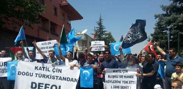 Çin Büyükelçiliği önünde Eylem