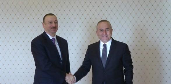Cumhurbaşkanı Aliyev'le görüştü